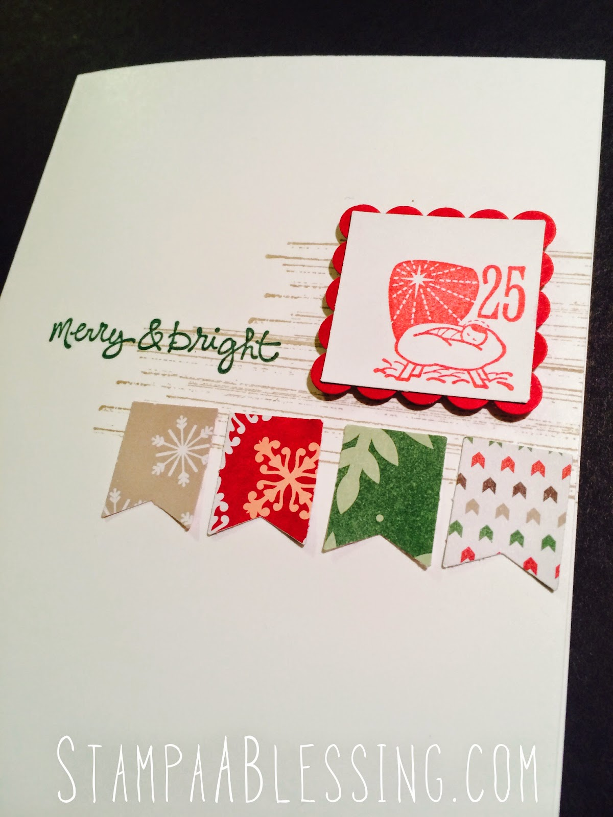 Stamp A Blessing Christmas Cards With Kids And Year End