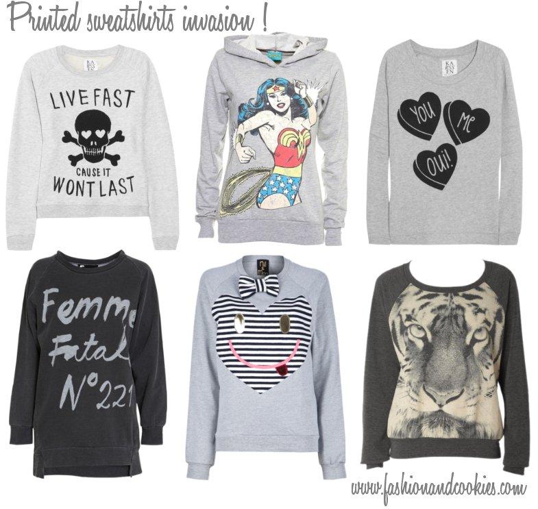printed sweatshirts trend, felpe stampate