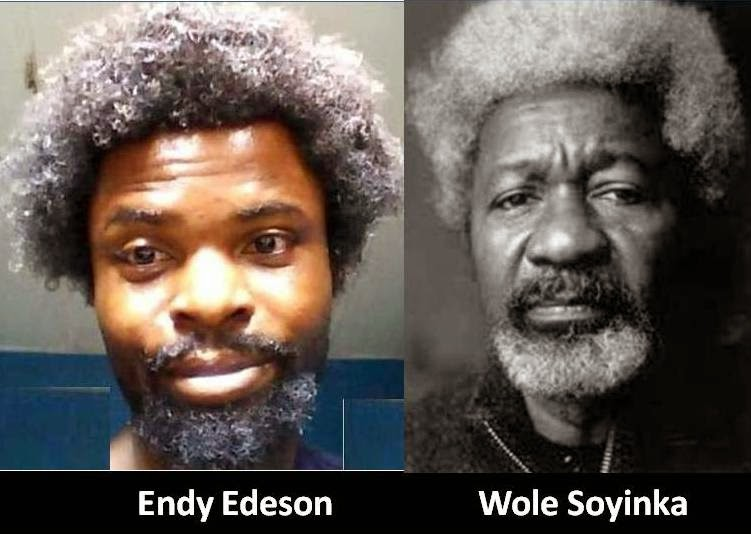 WEIRD PHOTO: Endy Edeson Vs Wole Soyinka