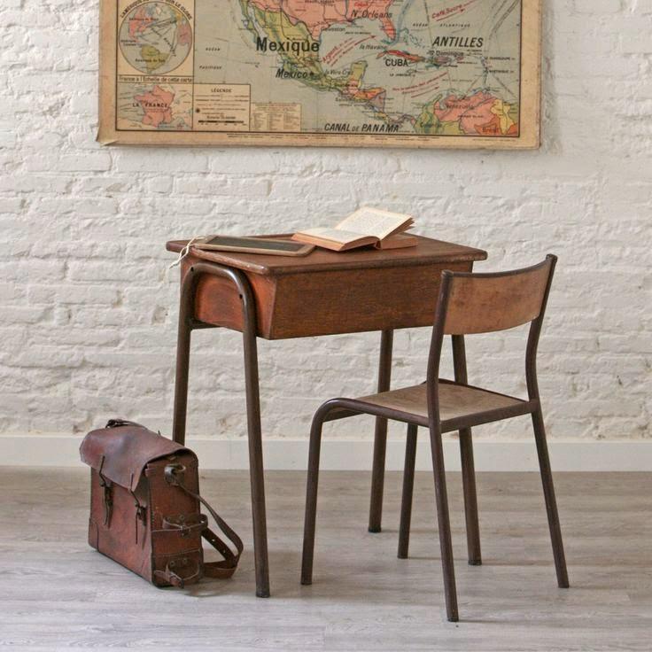 Decorar con antiguas sillas de colegio etxekodeco - Cosas antiguas para decorar ...