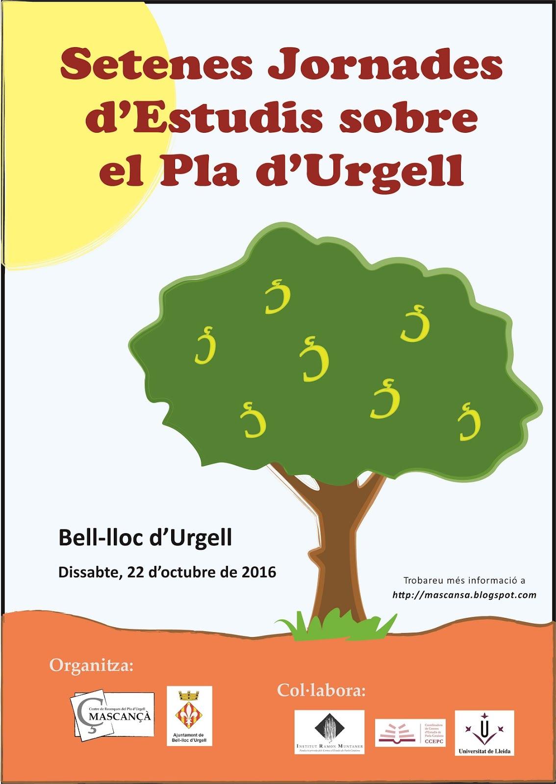 VII Jornades d'Estudis sobre el Pla d'Urgell