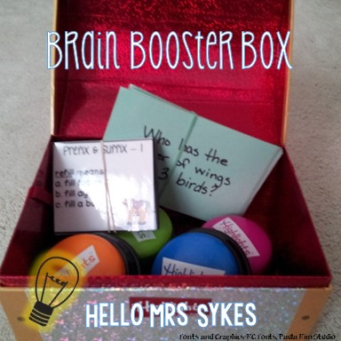 http://www.teacherspayteachers.com/Product/Brain-Booster-Box-Cards-Free-1357602