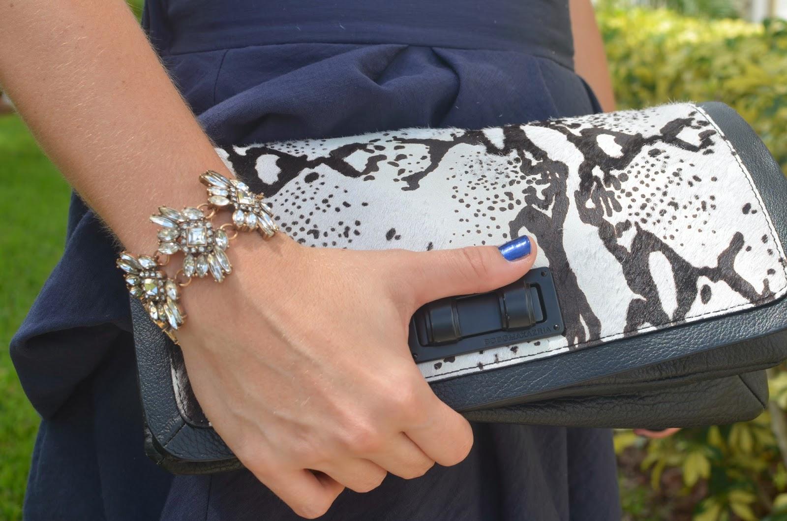 animal print clutch - Emma & Sophia - Crystal bracelet