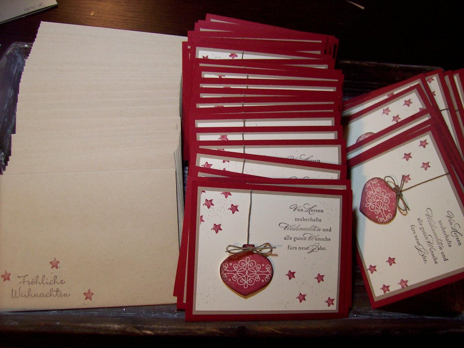 Kreativ am deich last minute weihnachtskarten - Weihnachtskarten kreativ ...
