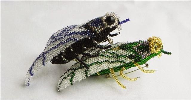 Мастер класс муха из бисера
