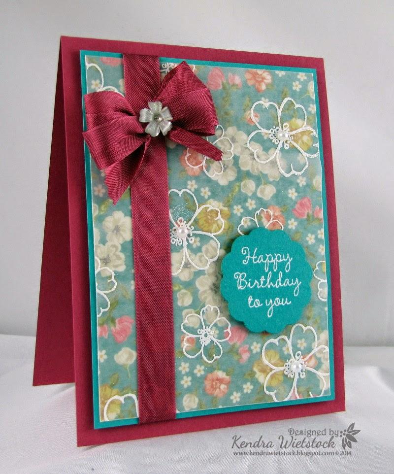 kendra u0026 39 s paper creations  vellum stamping