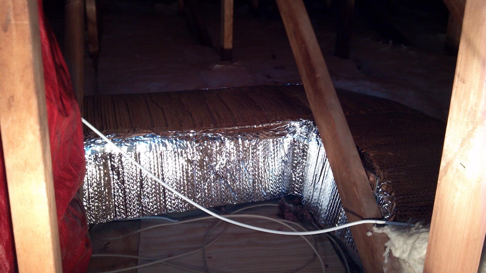 Diy Attic Duct Work Insulation