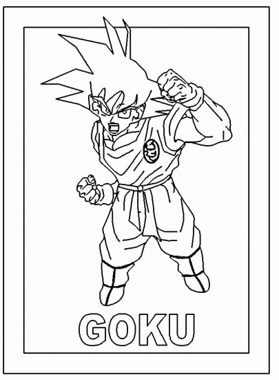 dragon ball z goku coloring pages - Dragon Ball Coloring Pages Goku