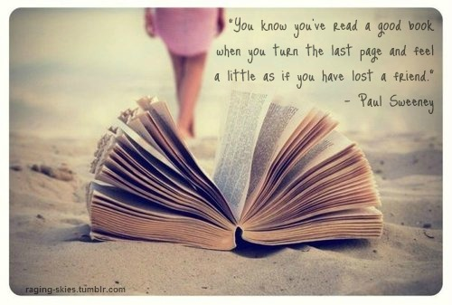 Books and doors are the same thing. You open them, and you go ...