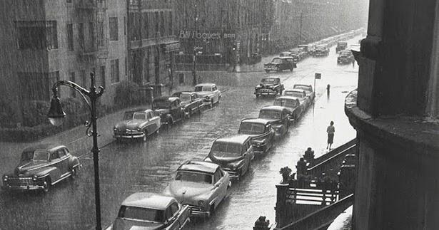 man in the rain new york city 1952 vintage everyday. Black Bedroom Furniture Sets. Home Design Ideas