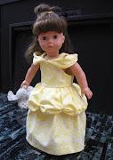 Návod na šatičky princezna Belle