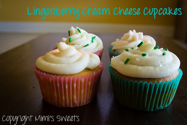 Lingonberry Cream Cheese Cupcakes