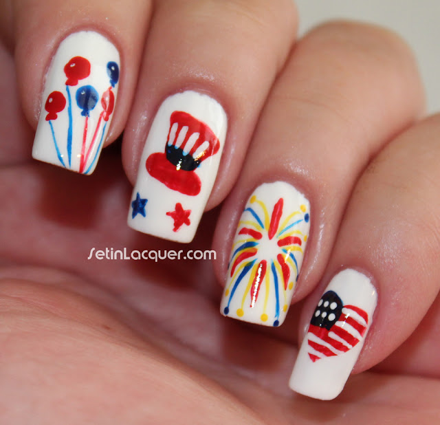 Fourth of July nail art