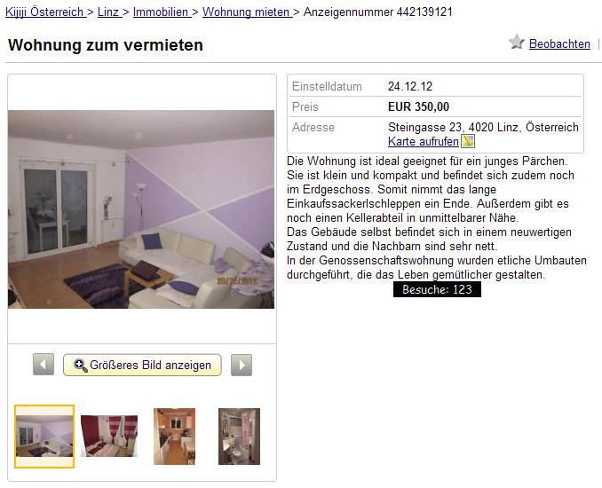 Wohnung zum vermieten for Wohnung vermieten