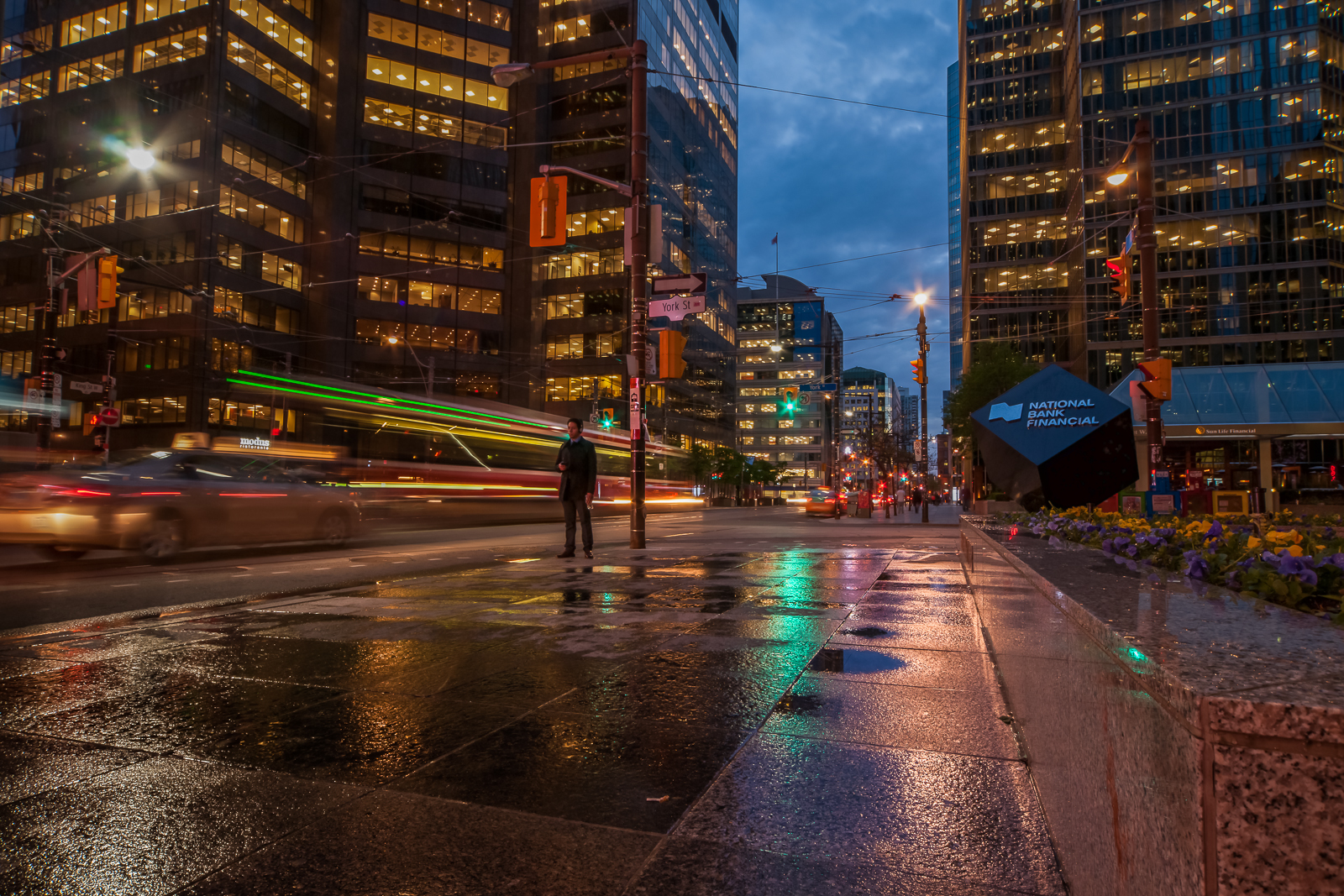 Toronto Photographer, Street, Urban Landscape, Night, City, Motion, Blur