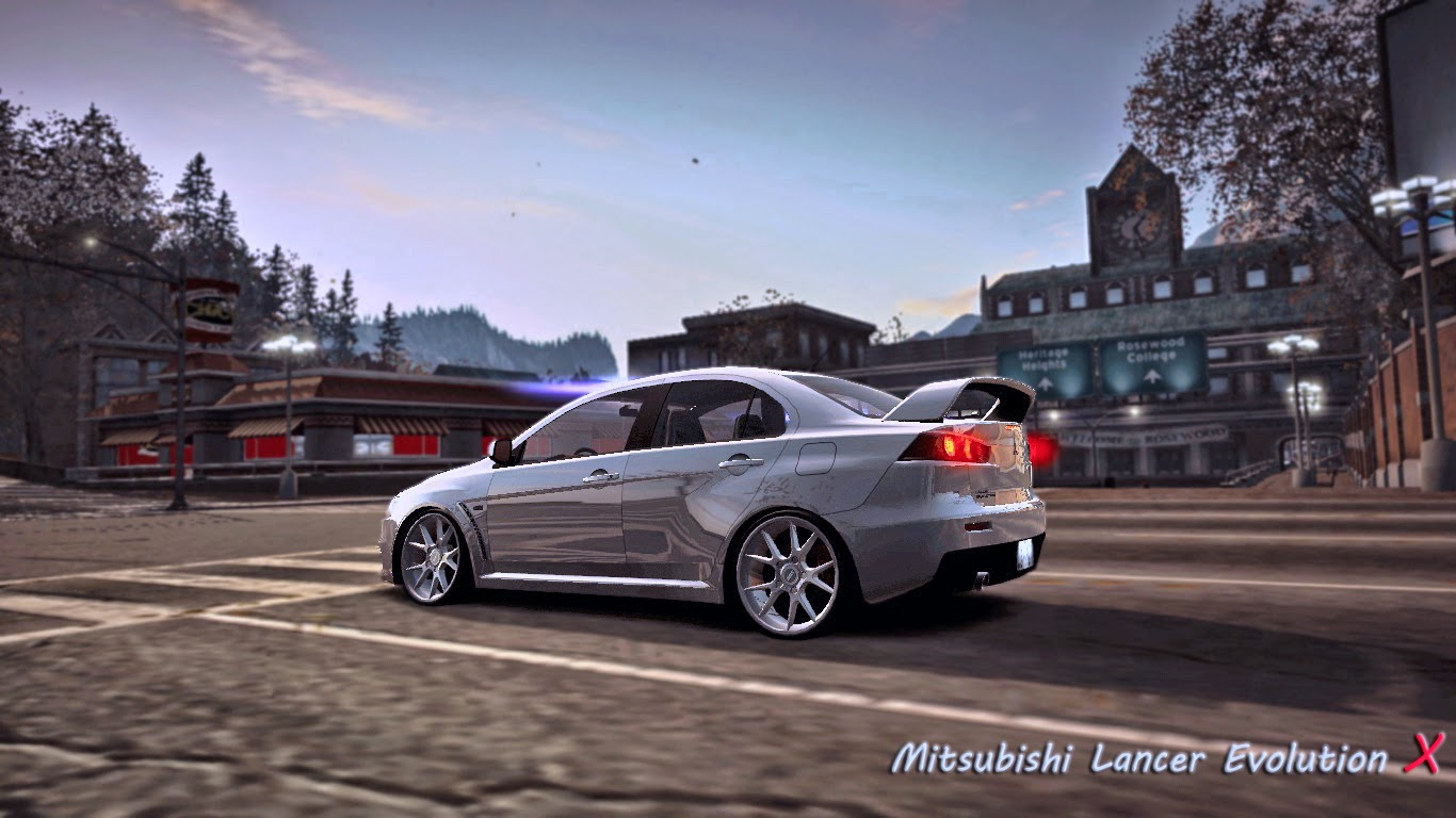 mitsubishi lancer evolution x nfsworld wallpaper