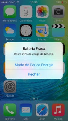Modo de Pouca Energia - iOS 9
