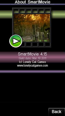 SmartMovie Player running on Nokia 5800 XM