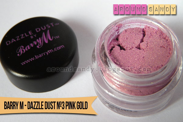 Dazzle Dust 3 Pink Gold  Barry M swatches swatch pigmento dónde comprar opinión review