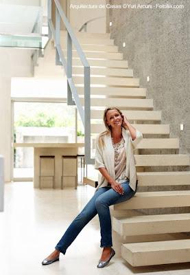 Escalera interior contemporánea
