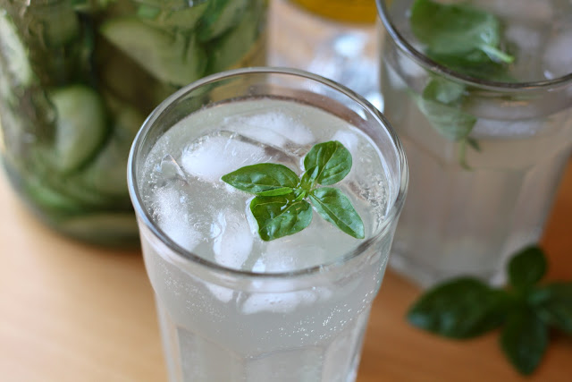 Basil Cucumber Gimlet recipe by Barefeet In The Kitchen