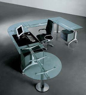 Glass executive desks
