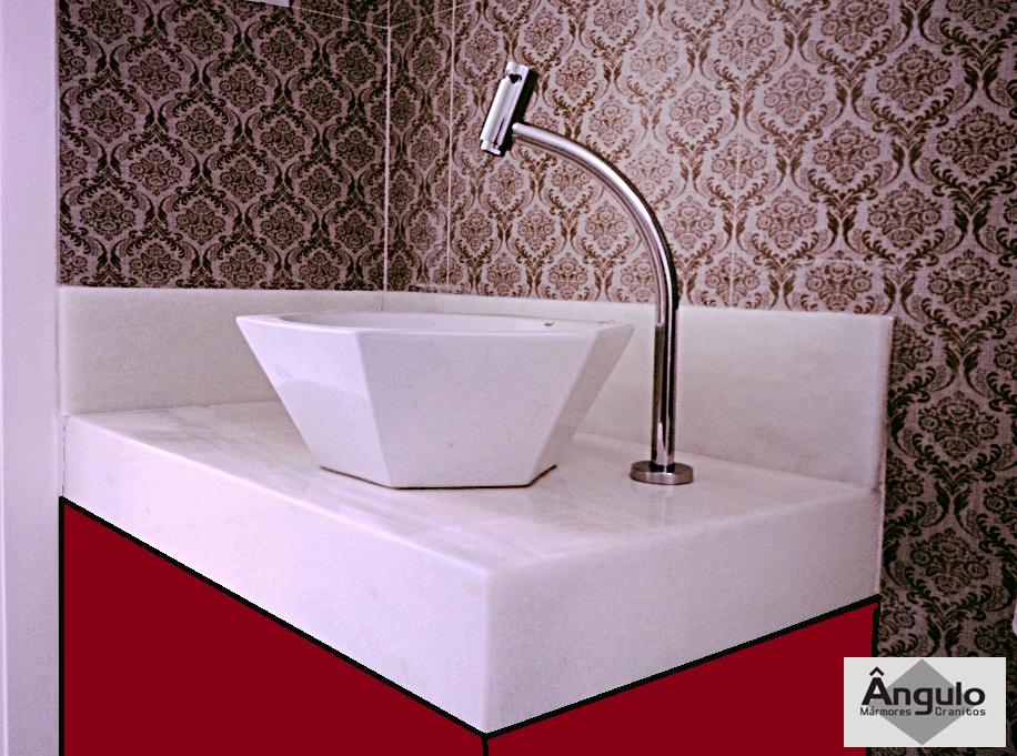 Ângulo Mármores e Granitos Pia de Banheiro  Mármore Especial # Pia De Banheiro Com Granito Ouro Brasil