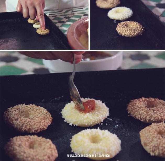 galletas de coco y sésamo - repostería árabe