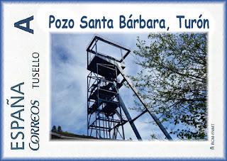 Sello personalizado del Pozo Santa Bárbara de Turón