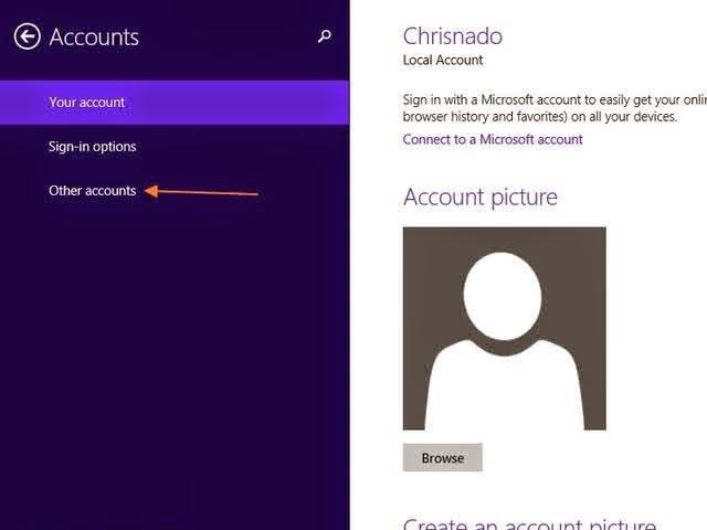 как удалить аккаунт в windows phone