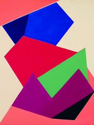 Cícero Dias. 'Evident'.  Óleo sobre tela, 1964. 80 x 65 cm.