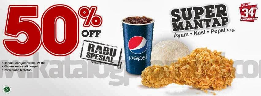 KFC Promo Rabu Special Diskon Gede-gedean Sampai 50% Buruan !