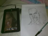 Luciana Leal - desenho com caneta esferográfica nº1