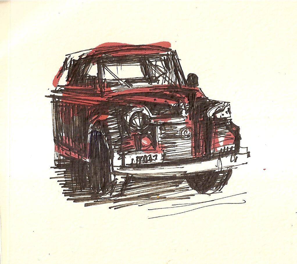 a desenhar desenhos de caminhonete e fusca para copiar colorir