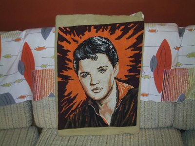 car boot sale Elvis Presley vintage tapestry canvas the king