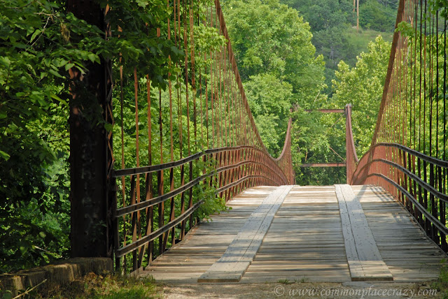 Swinging wooden bridge Missouri