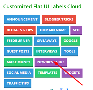 Add Awesome Colorful Flat UI Labels Cloud Widget For Blogger Blog