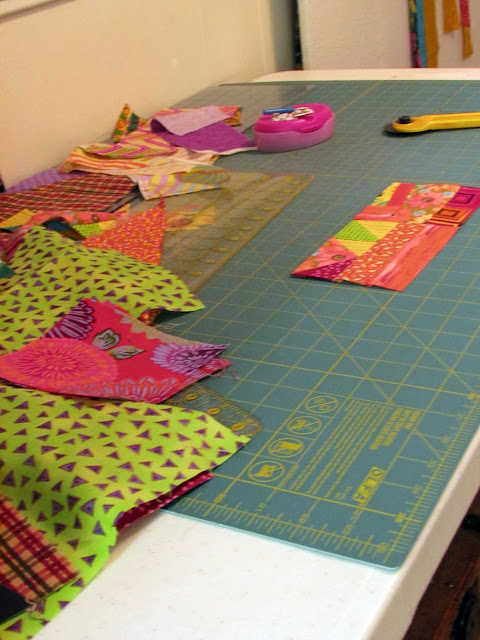 Gather scraps to make yardage