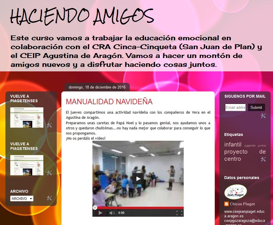 HACIENDO AMIGOS:blog de Infantil