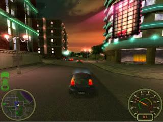 لعبة سباق السيارات City Racing ومطاردات الشرطة