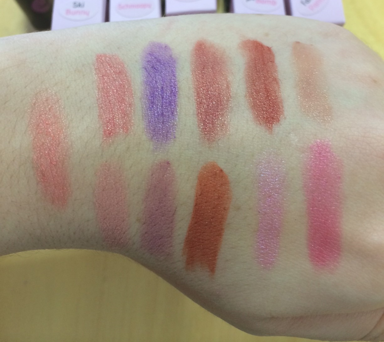 Lippy Girl Vegan Lipstick Swatches