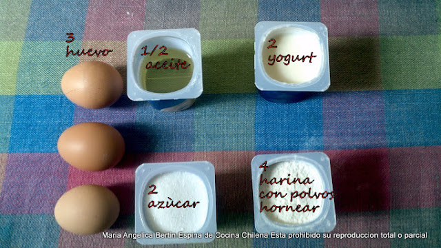 Cocina chilena queque de yogurt for Queique de yogur