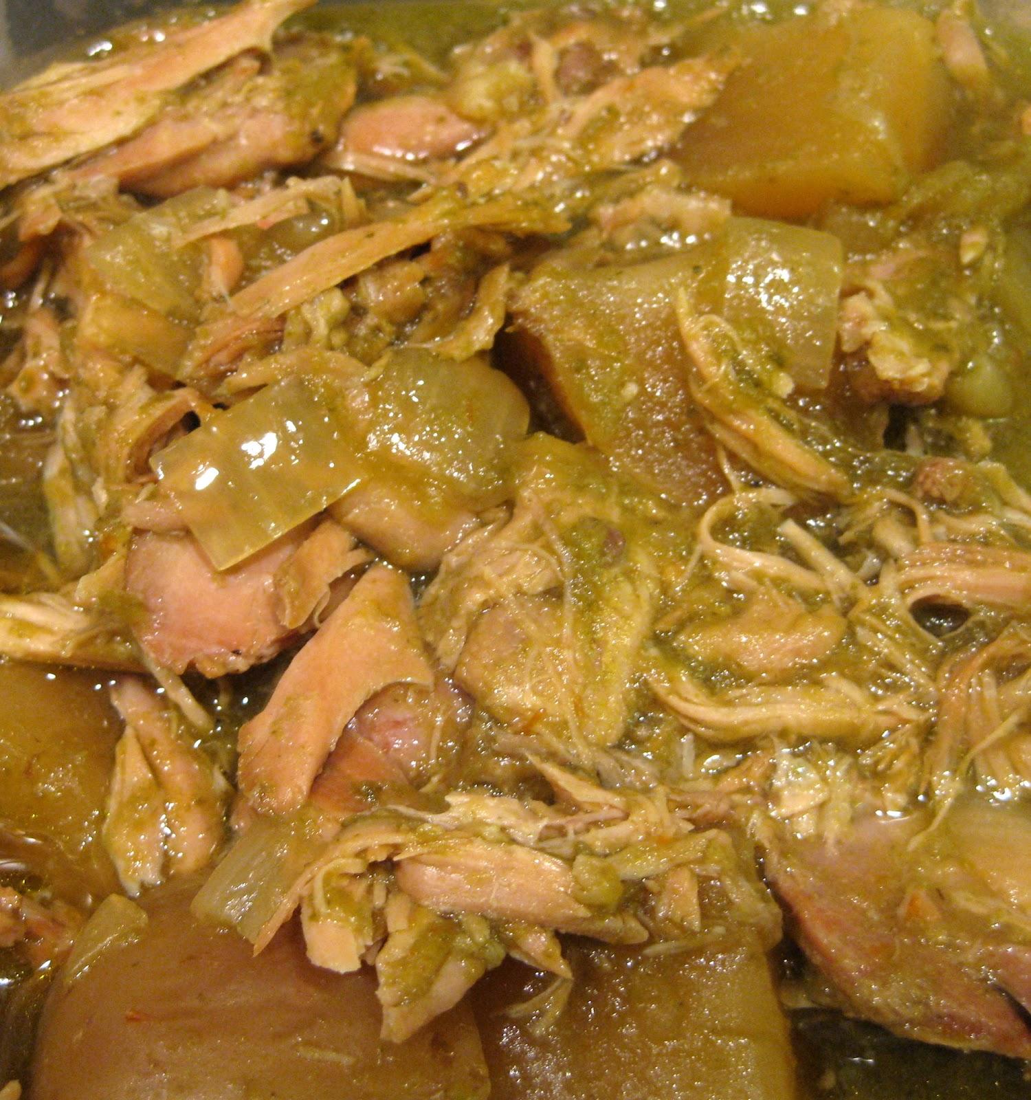 ... 美味しかった: Easy Chicken Drumstick Chile Verde (Slow Cooker