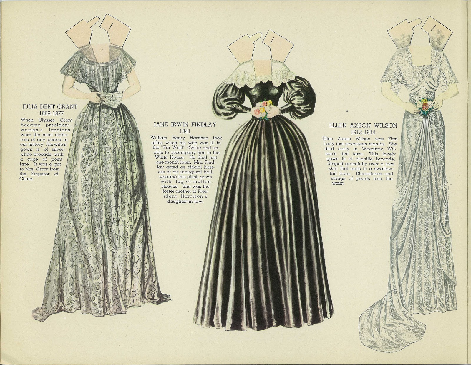 Miss Missy Paper Dolls: Dresses worn by the First Ladies of the ...