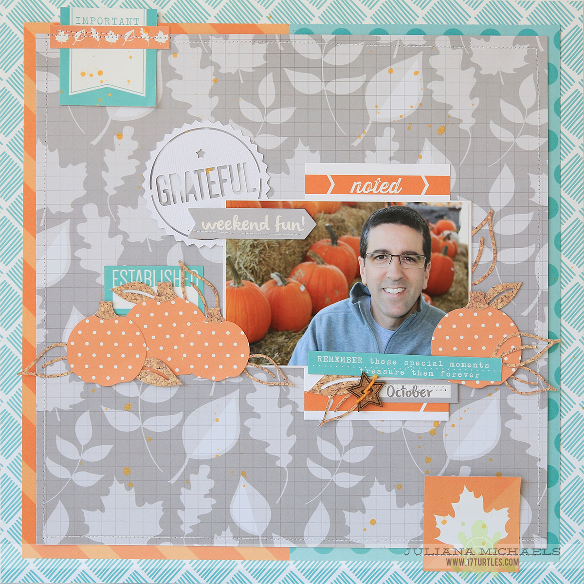 Grateful Scrapbook Page by Juliana Michaels for Elle's Studio