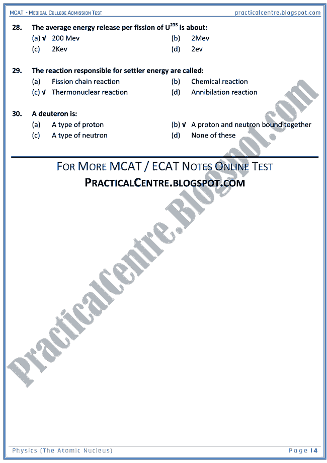 mcat-physics-the-atomic-nucleus-mcqs-for-medical-college-admission-test