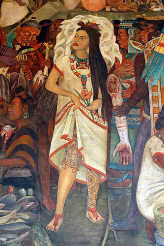 In the cavity of a rock ammon and the ancient practice of for Aztec mural painting