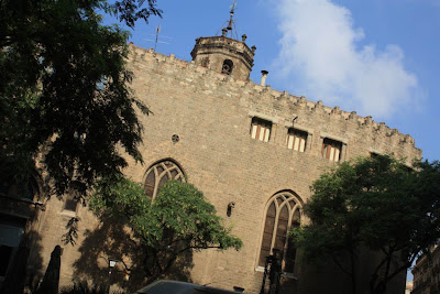 Gothic church of Sant Pere de les Puelles in Barcelona