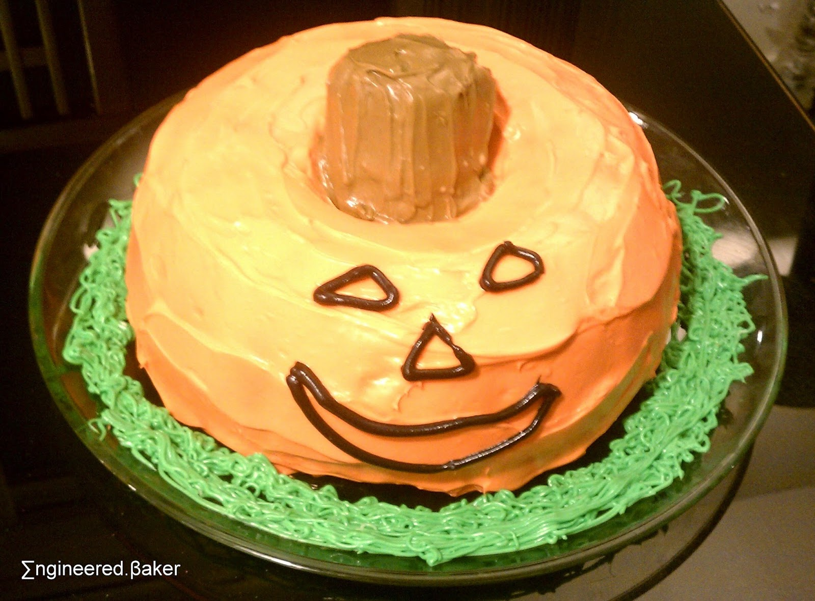 Halloween Bundt Cake Decorations The Engineered Baker Decorating Idea The Jack O Lantern Bundt Cake