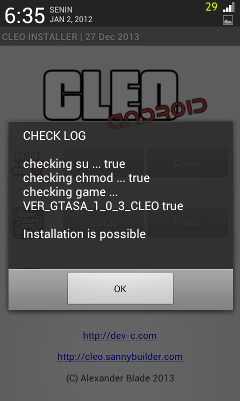 Cara Cheat GTA San Andreas For Android